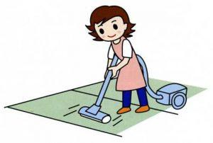 畳に掃除機